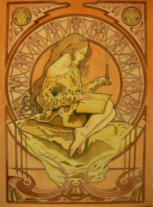 art_nouveau_girl_4__titled__the_candelight_reader_by_el_barbudo96-d4yzgwj
