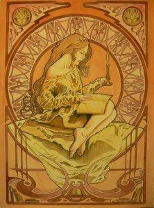 art_nouveau_girl_4__titled__the_candelight_reader_by_el_barbudo96-d4yzgwj