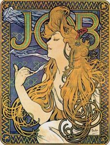 Mucha, Papier a Cigarettes (Job ad) 1896.jpg