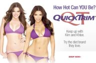 Kim Kardashian in an advert for QuickTrim